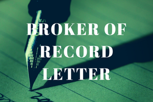 broker of record letter