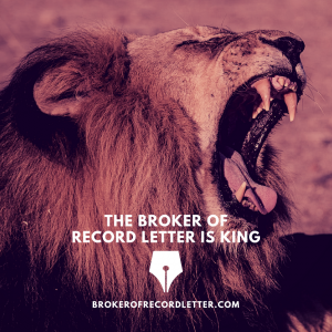 $10,000 Revenue – All by Broker of Record Letter